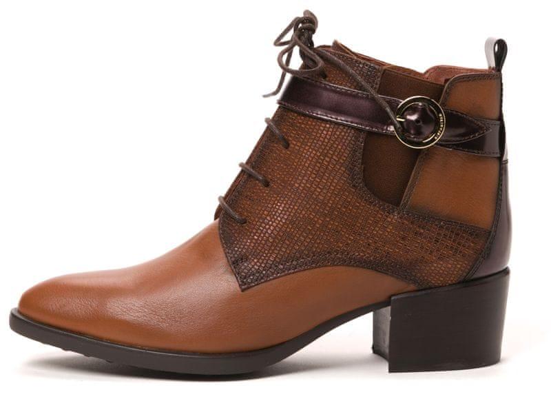Hispanitas dámská kožená kotníčková obuv 40 hnědá
