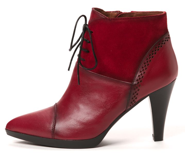Hispanitas dámská kožená kotníčková obuv 38 červená