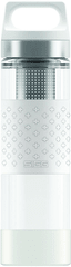 Sigg Hot & Cold Glass WMB Kulacs, Fehér, 0,4 L