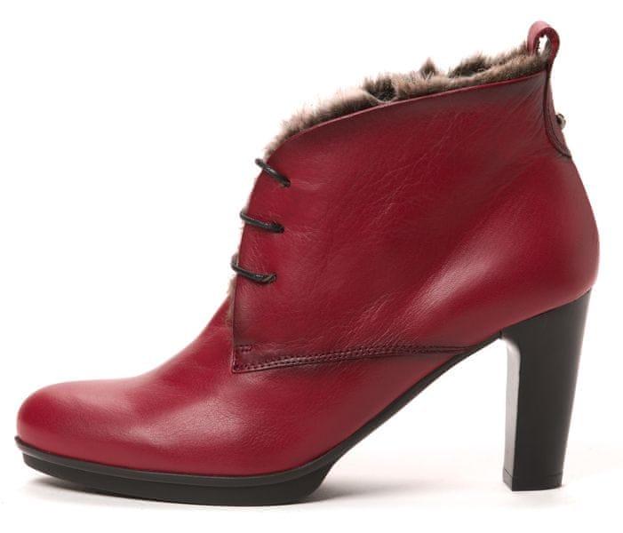 Hispanitas dámská kožená kotníčková obuv 39 červená