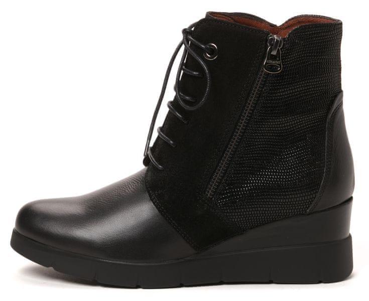Hispanitas dámská kožená kotníčková obuv 39 černá