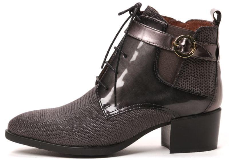 Hispanitas dámská kožená kotníčková obuv 37 šedá