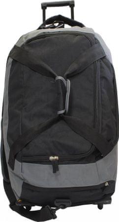 Športna torba Olympic, s kolesci, sivo-črna