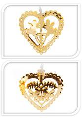 Metalac Svietiaca reťaz Srdce 10 LED zlatá