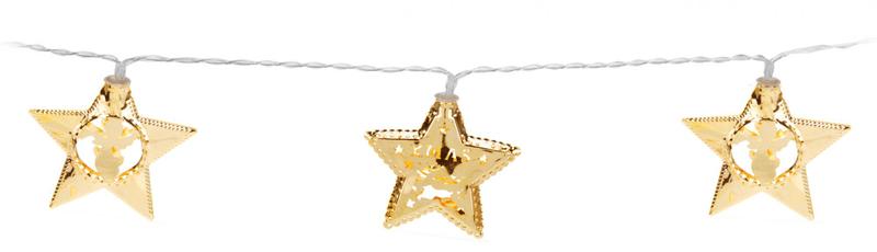 Metalac Svítící řetěz Hvězda 10 LED zlatý