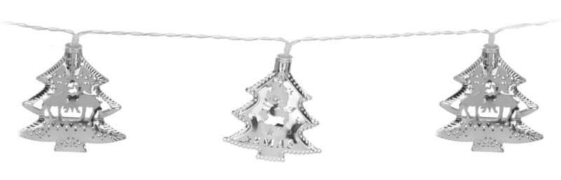 Metalac Svítící řetěz Strom 10 LED stříbrný