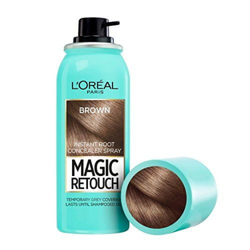 L'Oréal Vlasový korektor šedin a odrostů Magic Retouch (Instant Root Concealer Spray) 75 ml 01 Black