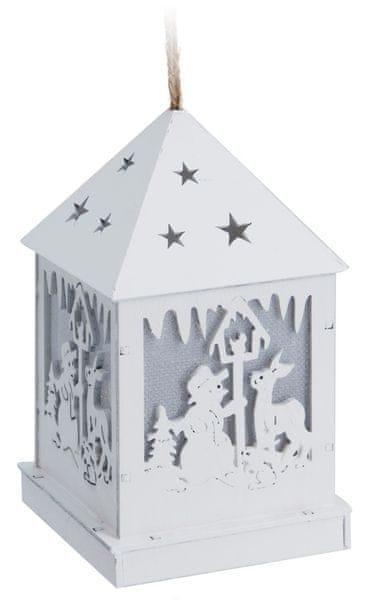 Metalac Svítící dekorace lucerna sněhulák