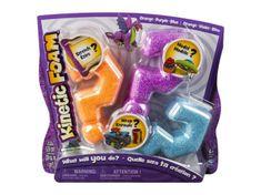 Spin Master Kinetic Foam - Multi 3-pak, niebieski, pomarańczowy, fioletowy