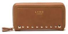 LYDC dámska hnedá peňaženka