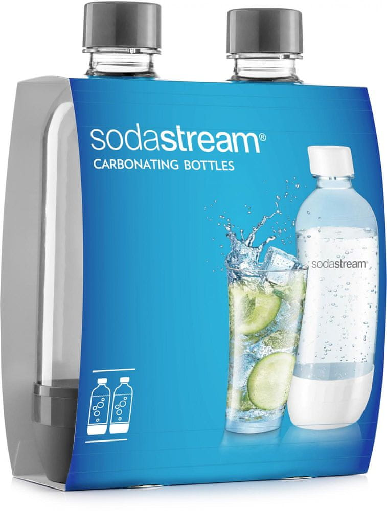 SodaStream Lahev 1l GREY/Duo Pack