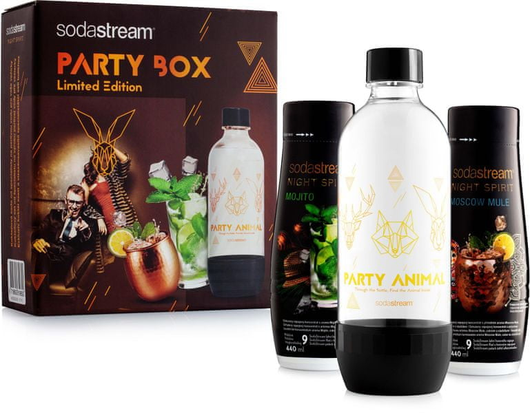 Sodastream PARTY BOX 2x koktejl + lahev