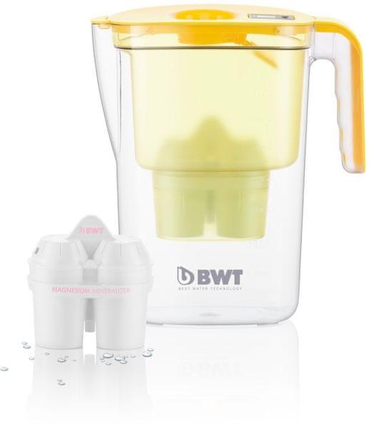 BWT filtrační konvice VIDA 2,6l, 2 filtry v balení žlutá