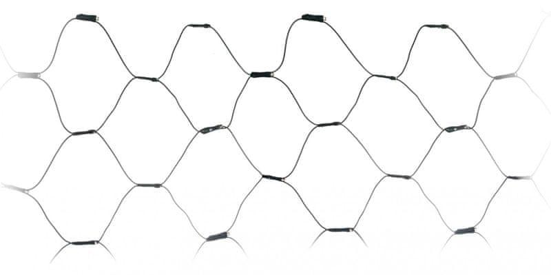 Metalac Retěz svítící síť 160 LED teplá bílá