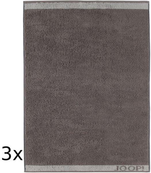 Joop! ručníky Decor 50x100 cm, 3 ks šedá