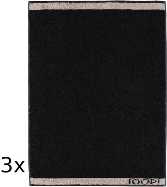 Joop! ručníky Decor 50x100 cm, 3 ks černá