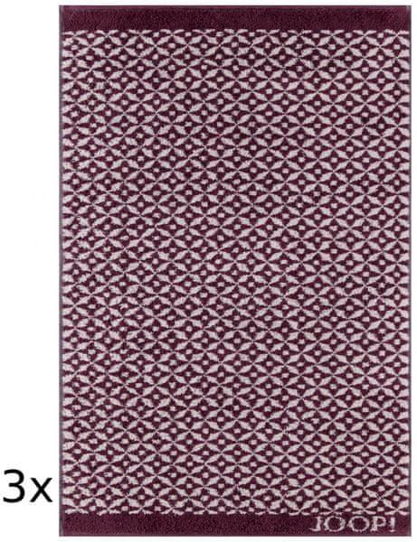 Joop! ručníky Decor Allover 50x100 cm, 3 ks červená