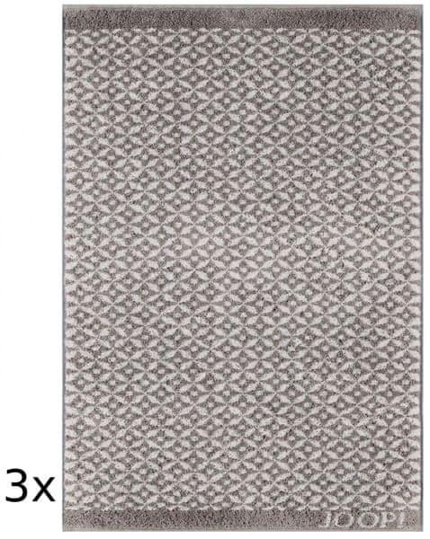 Joop! ručníky Decor Allover 50x100 cm, 3 ks šedá