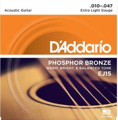 Daddario EJ15 Kovové struny pro akustickou kytaru