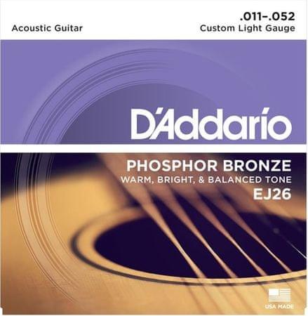 Daddario EJ26 Kovové struny na akustickú gitaru
