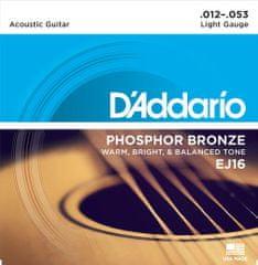Daddario EJ16 Kovové struny pro akustickou kytaru
