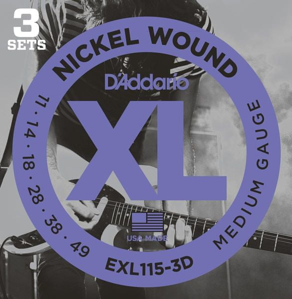 Daddario EXL115-3D Struny pro elektrickou kytaru