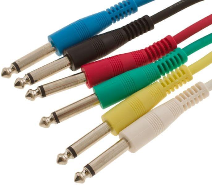 RockCable RCL 30060 D5 Propojovací kabely, set 6ks