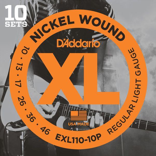 Daddario EXL110-10P Struny pro elektrickou kytaru