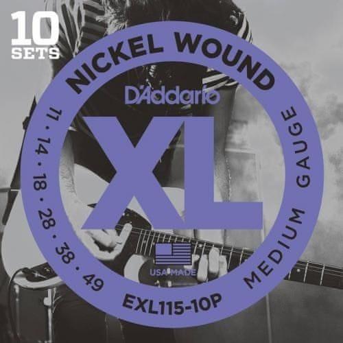 Daddario EXL115-10P Struny pro elektrickou kytaru