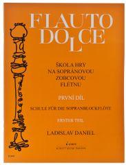 KN Flauto Dolce - škola hry na sopránovou zobcovou  flétnu 1. díl - Ladislav Daniel Škola hry na zobcovej flaute