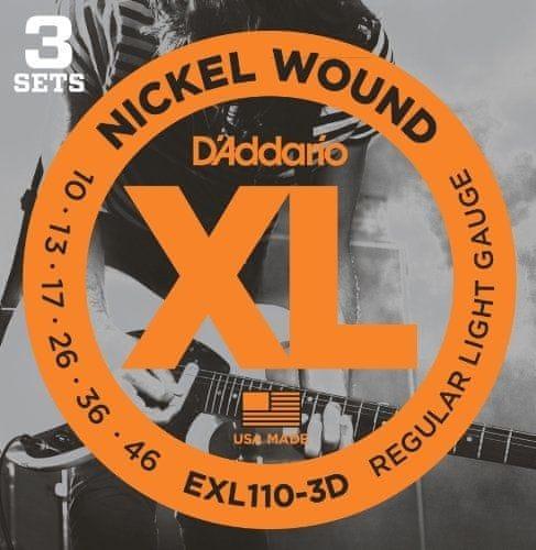 Daddario EXL110-3D Struny pro elektrickou kytaru
