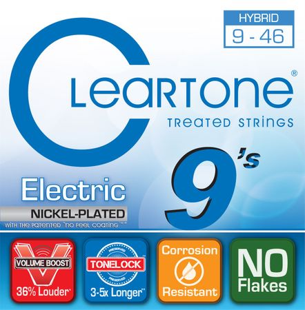 Cleartone Nickel Plated 9-46 Hybrid Struny pro elektrickou kytaru