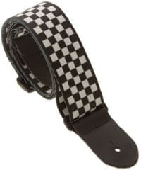 Perris Leathers 591 White-Black Checkers Kytarový popruh