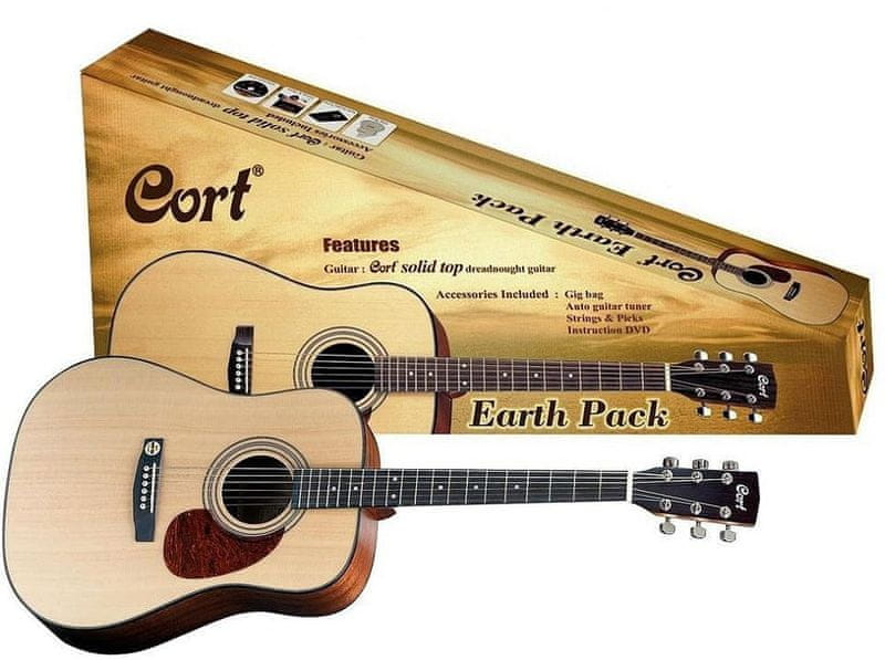 Cort Earth Pack NS Kytarový komplet