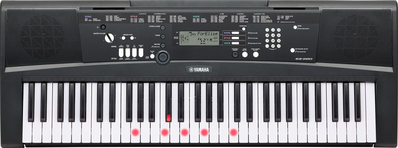 Yamaha EZ-220 Klávesy s dynamikou úhozu