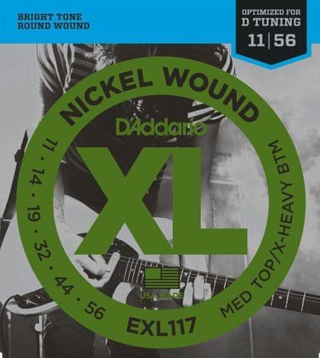Daddario EXL117 Struny pro elektrickou kytaru