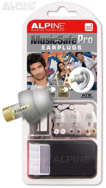 Alpine Music Safe Pro Silver Špunty do uší