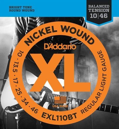 Daddario EXL110BT Struny pro elektrickou kytaru