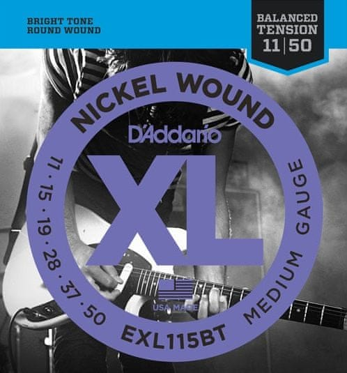 Daddario EXL115 BT Struny pro elektrickou kytaru