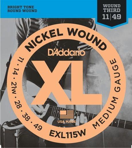 Daddario EXL115W Struny pro elektrickou kytaru