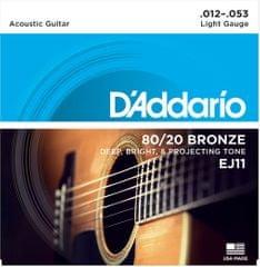 Daddario EJ11 Kovové struny pro akustickou kytaru