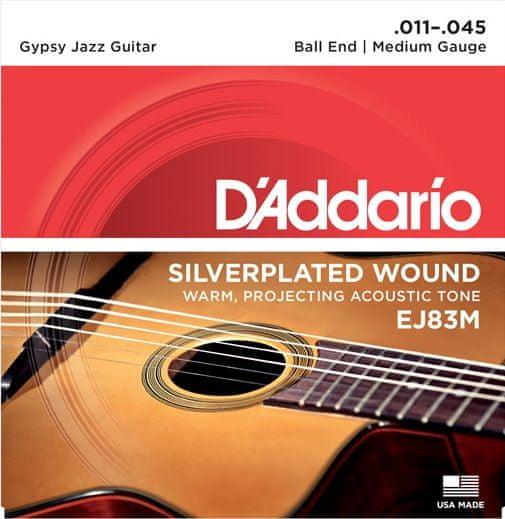 Daddario EJ83M Kovové struny pro akustickou kytaru