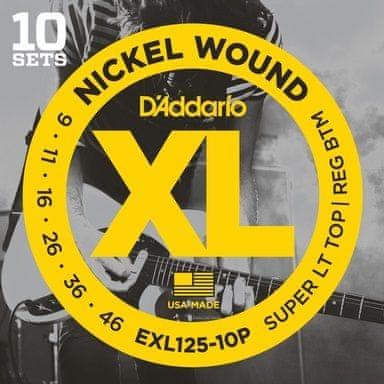 Daddario EXL125-10P Struny pro elektrickou kytaru