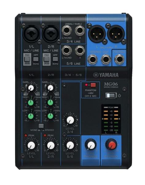 Yamaha MG06 Analogový mixážní pult