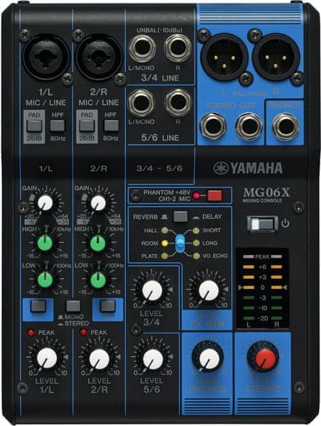 Yamaha MG06X Analogový mixážní pult