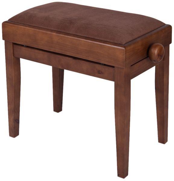 Stagg PB55 WNM VBR Klavírní stolička s úložným prostorem