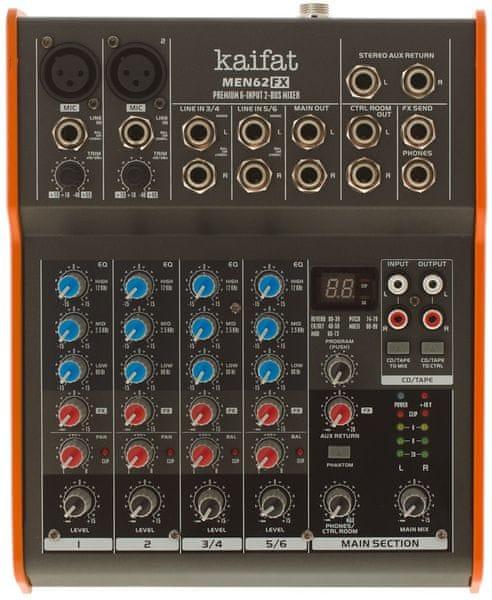 Kaifat MEN62FX Analogový mixážní pult