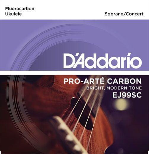 Daddario EJ99SC Struny pro sopránové/koncertní ukulele