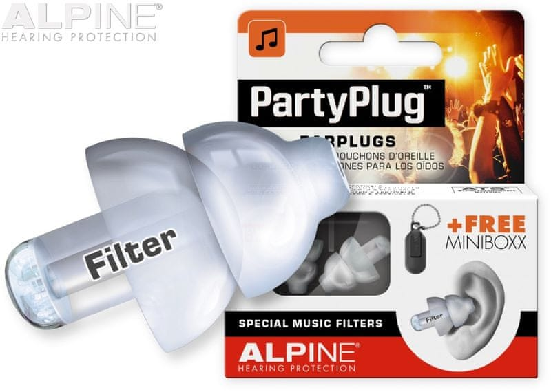 Alpine PartyPlug Transparent Špunty do uší