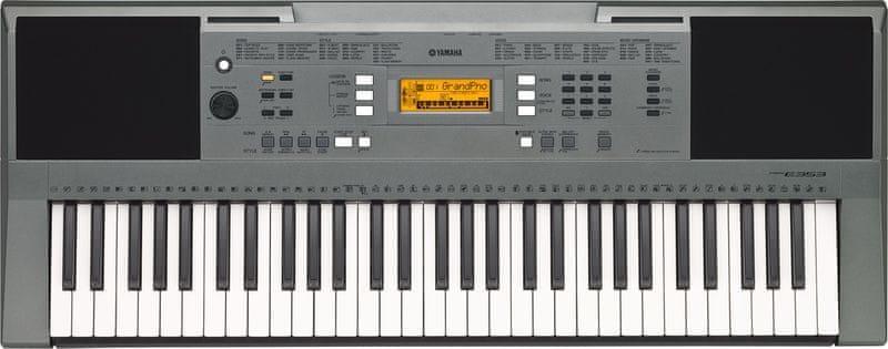 Yamaha PSR-E353 Klávesy s dynamikou úhozu
